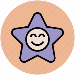 cartoon, cheerful, happy star, little star, smiling star, star shape icon