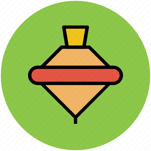 fun, playful, spinning top, top, toy icon