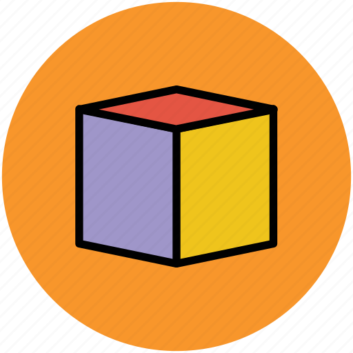 box, cube, cubic box, square, square box icon