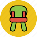 baby, baby chair, chair, childhood, children, kids furniture icon