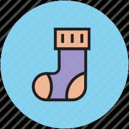 footwear, hosiery, sock, stocking, winter icon