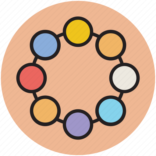 baby toy, colorful, fun, ring, toy icon