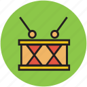 bass drum, drum, musical instrument icon