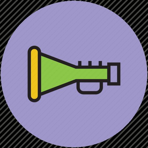 horn, joy, loud, noise, plastic trumpet, sound icon