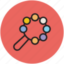 baby rattle, noise, rattle, toy, toy rattle icon