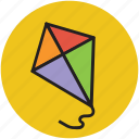 activity, entertainment, fun, kite, kite toy, play, playful, toy icon