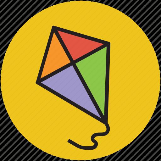activity, entertainment, fun, kite, kite toy, play, playful, toy icon