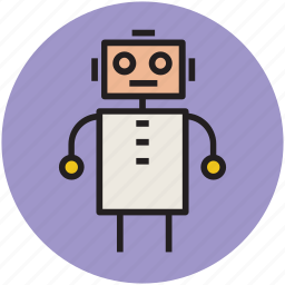 animated cartoon, cartoon, cartoon robot, happiness, robot, toy icon