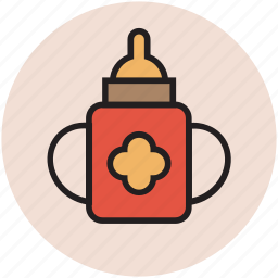 baby bottle, bottle, feeder bottle, handle, infant feeder icon