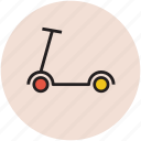 child, fun, kick scooter, leisure game, push scooter, riding, toy icon