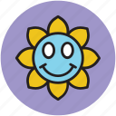 cartoon, cartoon sun, shape, smiling, sun icon