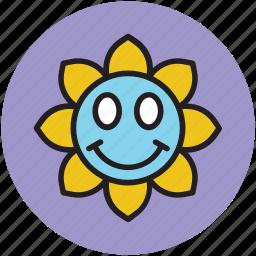 cartoon, cartoon sun, shape, smiling, sun icon