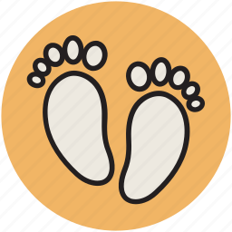 baby, feet, foot prints, foot steps, human feet icon