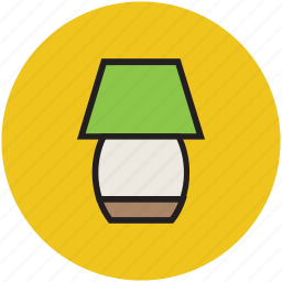 lamp, lamp light, light, table, table lamp icon