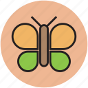 beauty, butterfly, cartoon, insect, nature icon