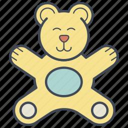 bear, child, teddy bear, toy icon