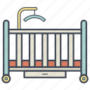 baby, bed, child, cradle, infant, newborn, sleep icon