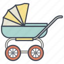 baby, carriage, child, cradle, newborn, pram, stroller icon