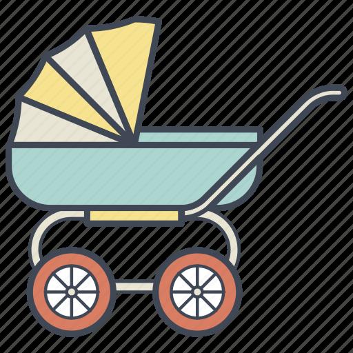 baby, carriage, child, cradle, newborn, pram, stroller icon