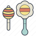 baby, child, noise, rattle, rattles, shaker, toy icon
