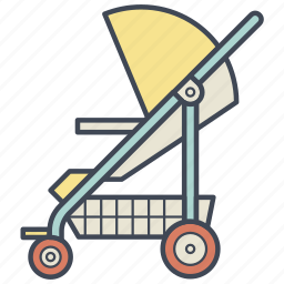 baby, carriage, child, newborn, pram, stroller icon