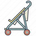 baby, cane, carriage, newborn, pram, stroller icon