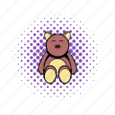 animal, bear, cartoon, child, comics, cute, toy icon