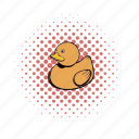 baby, child, comics, duck, rubber, shower, toy icon