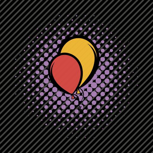 balloon, birthday, bunch, comics, free, gift, wallpaper icon