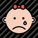 baby, boy, emoji, expression, face, sad