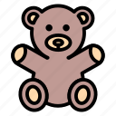 baby, bear, doll, teddy bear, toy icon