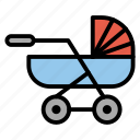 baby, buggy, carriage, infant, pram icon