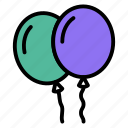 air, baby, balloons, birthday, party icon