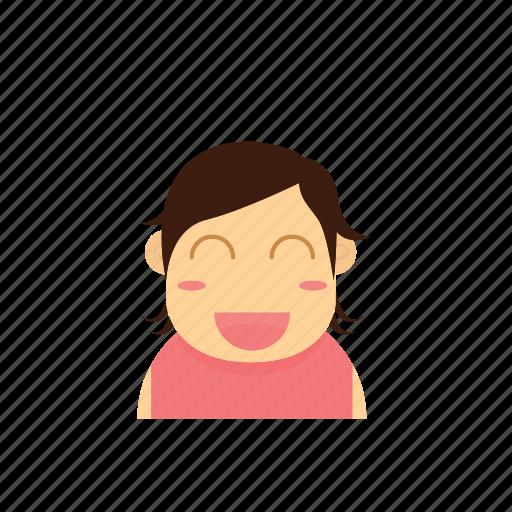 avatar, baby, face, female, girl, kid, smiley icon