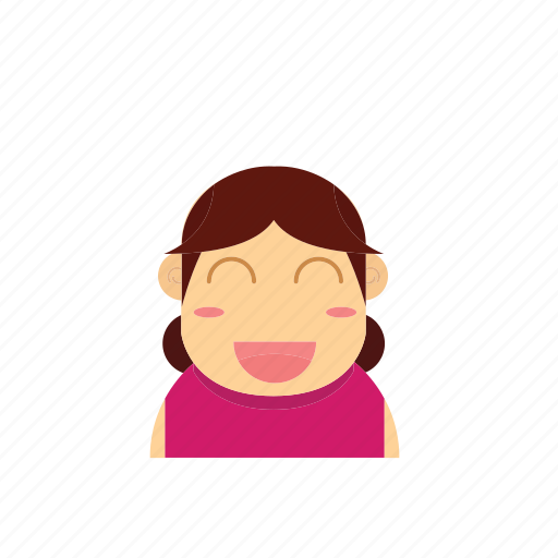 avatar, baby, face, female, girl, kid, smiley icon