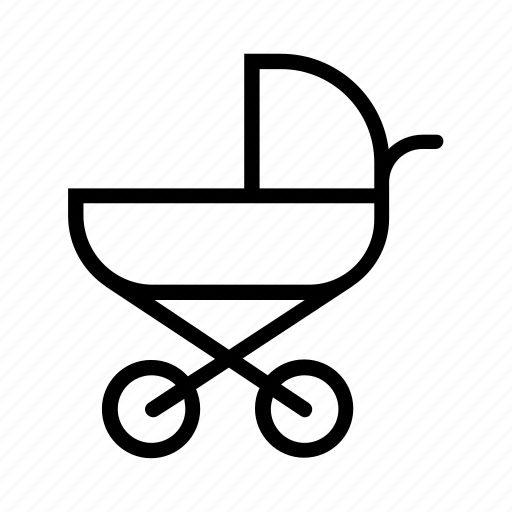 baby, baby pram, baby stroller, kid, trolley icon