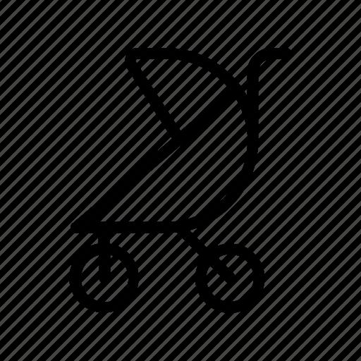 baby, baby pram, baby stroller, child, kid, trolley, walk icon