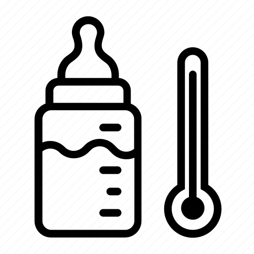 baby, baby bottle, bottle, milk icon