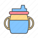baby, bottle, milk icon