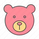 baby, bear, child, play, teddy icon