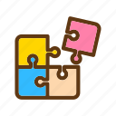 baby, color, puzzle, toys icon