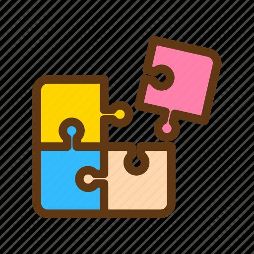 baby, color, puzzle, toys icon