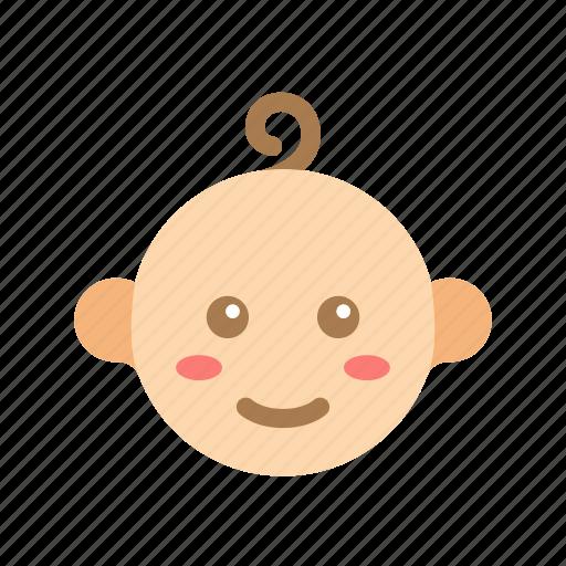 baby, boy, cute, face, head, kid, newborn icon