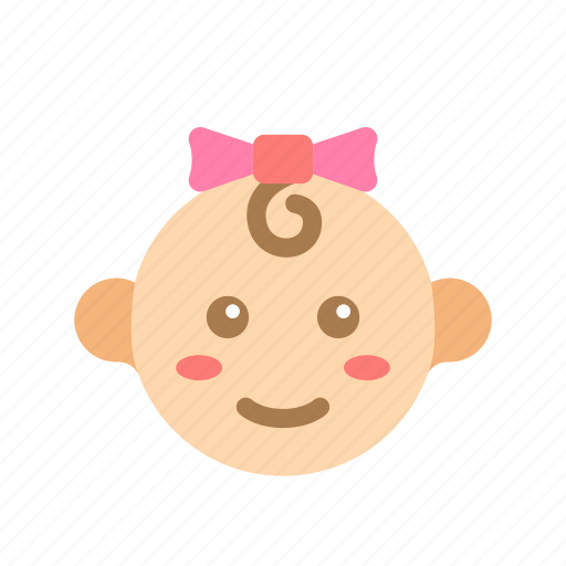 Baby, cute, face, girl, kid, newborn icon - Download on Iconfinder