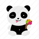 baby, cute, funny, panda, sweet icon