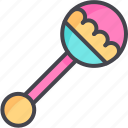 baby, rattle, toy icon