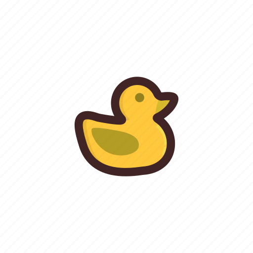baby showe, duck, duckling, kids, new born, toys, yellow icon