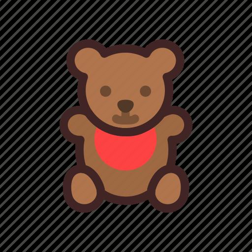 baby, bear, newborn, shower, teddy, toys icon