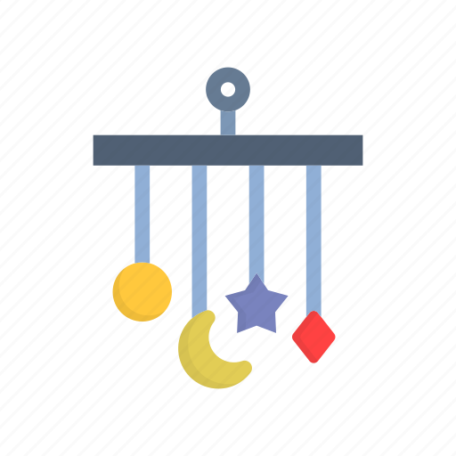baby, light, mobile, moon, star, toys icon