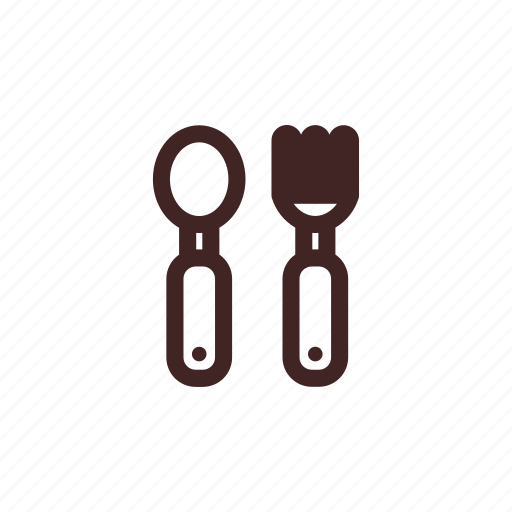 and, baby, child, cutlery, food, fork, spoon icon